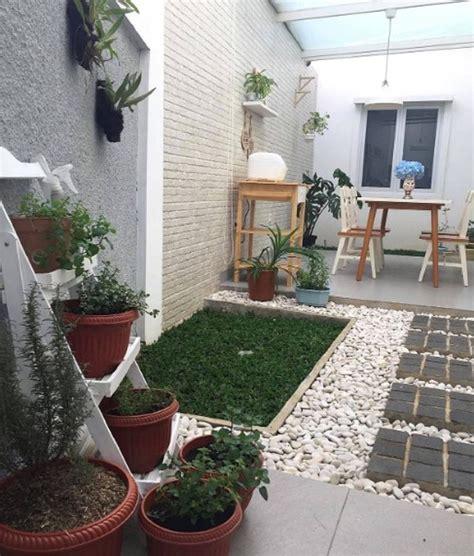 dekorasi taman minimalis sederhana unik cantik