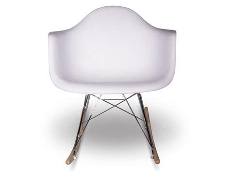 eames rocking chair rar white