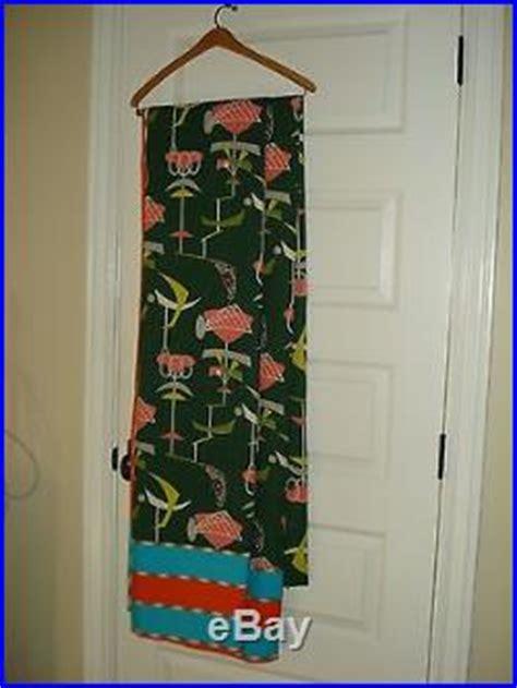 vintage retro atomic barkcloth fabric 2 panels drapes