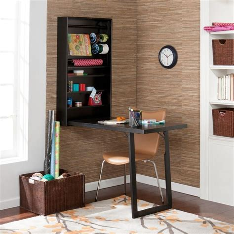 wall mounted fold out table murphy black wall mount fold out craft desk with shelves
