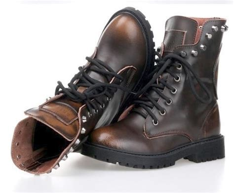 chaussures homme rangers cuir