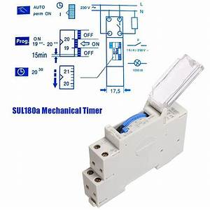 Sul180a 15 Minutes Mechanical Timer 24 Hours Count Timer
