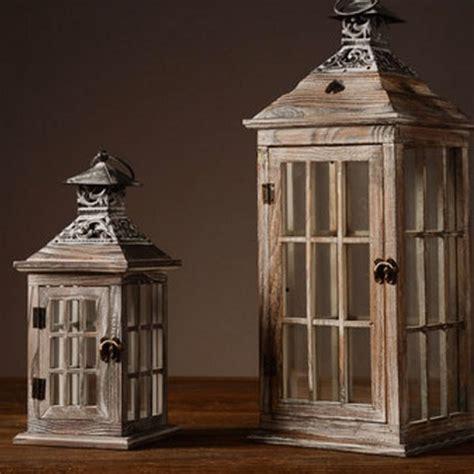 vintage wooden candle lantern apollobox