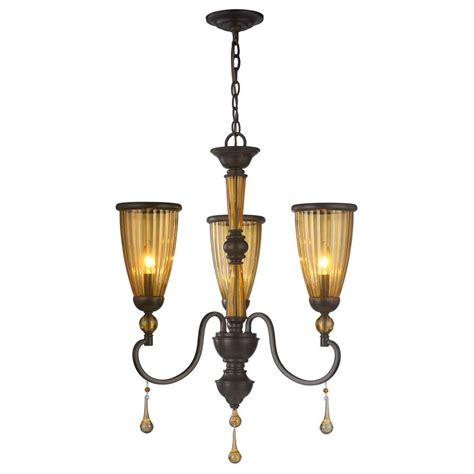 world imports 3 light rubbed bronze chandelier with