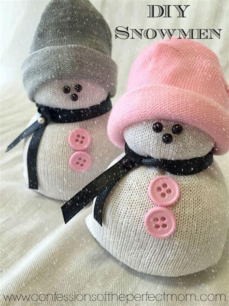 diy sock snowman snowmen crafts omg    cute