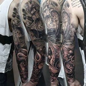 40 Nautical Sleeve Tattoos For Men - Seafaring Ink Deisgn ...