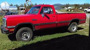 Dodge Ram 2500 Standard Cab Pickup 1991 Red For Sale