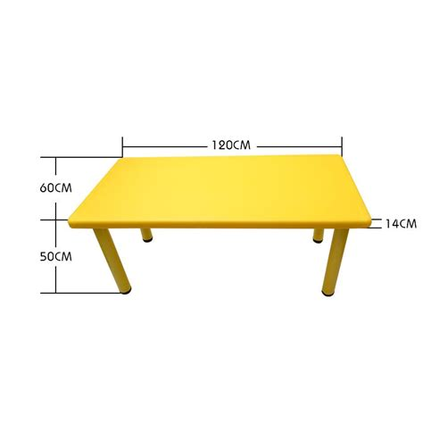 childrens table l large kids toddler children activity table and 6 chair chairs yellow 120x60cm l