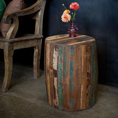 weathered wood end table reclaimed wood weathered tanki table eclectic side