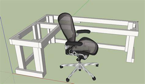 diy  shape computer desk design   work