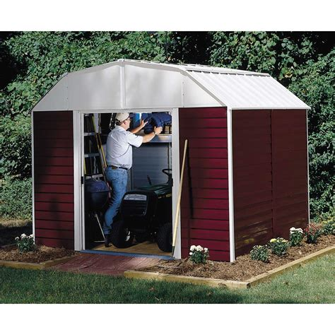 10x14 arrow shed assembly 10 x 14 steel barn storage solutions from kmart