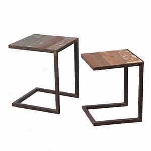 Table D Appoint Gigogne : tables gigognes bric achat vente table basse tables gigognes bric bois m tal cdiscount ~ Teatrodelosmanantiales.com Idées de Décoration