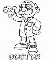 Doctor Coloring Cartoon Professions Pages Topcoloringpages Children sketch template