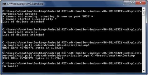 android customization how to transfer files using adb