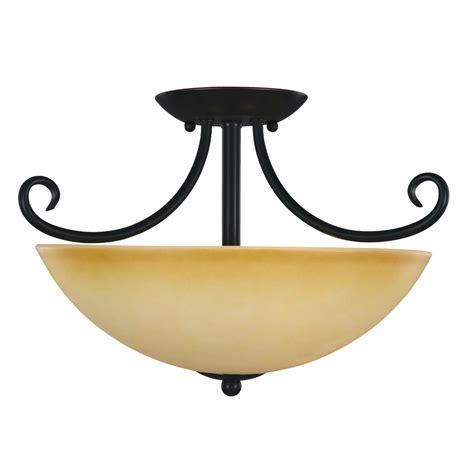 oil rubbed bronze essex semi flush mount ceiling light fixture