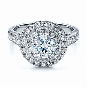 double halo engagement ring vanna k 100088 bellevue With double halo wedding ring