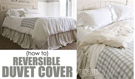 tutorial diy reversible duvet cover sewing