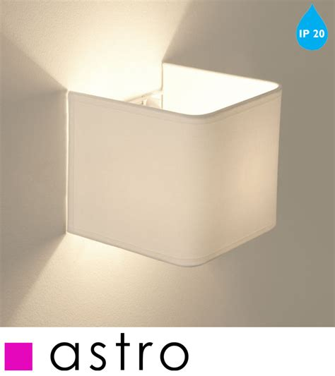 astro ashino ip20 interior switched wall light white finish 0766 from easy lighting