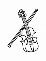 Coloring Musical Instrument Violin Printable Mycoloring sketch template