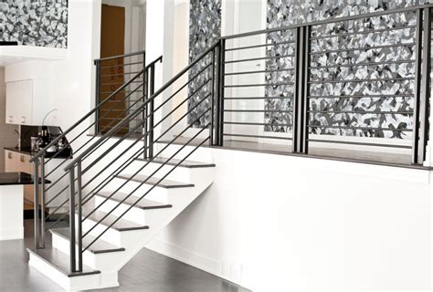 Steel Banister by Chicago Custom Railings Chicago Railings