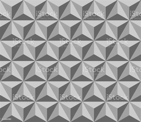 Gray Pyramid Vector Seamless Pattern With Triangles Simple