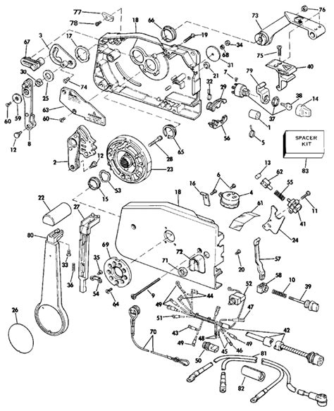 20 Hp Johnson Outboard Diagram by Evinrude Remote Parts For 1987 20hp E20crcur