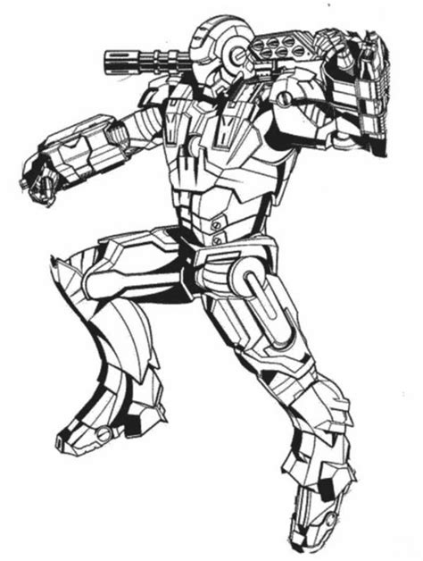 war machine  action  iron man coloring page netart