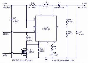 12 Volt Dc Power Supply From Usb Port