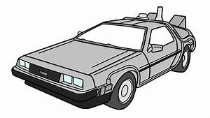 How to Draw the Back to the Future Delorean - YouTube