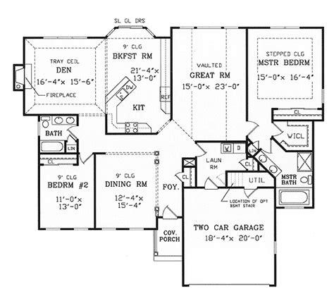 split ranch floor plans split bedroom ranch for modest lot 3858ja