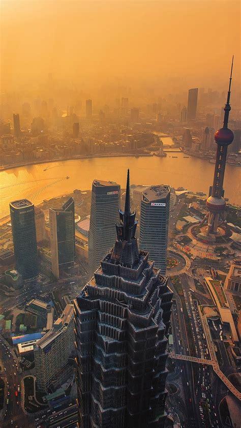 evening view  hong kong skyscraper view iphone wallpaper