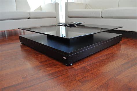 design couchtisch schwarz v 570 getöntes glas carl