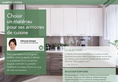 panneau armoire cuisine choisir un matériau pour ses armoires de cuisine la presse