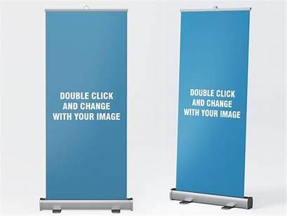 Banner Roll Mockup Rollup Dribbble Agency