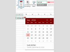 How to insert calendar in Excel Date Picker & printable