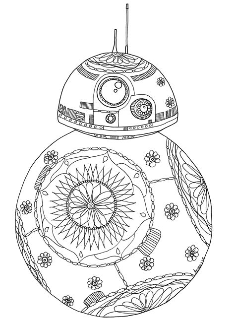 Bb8 Kleurplaat by Wars Coloring Pages For Adults