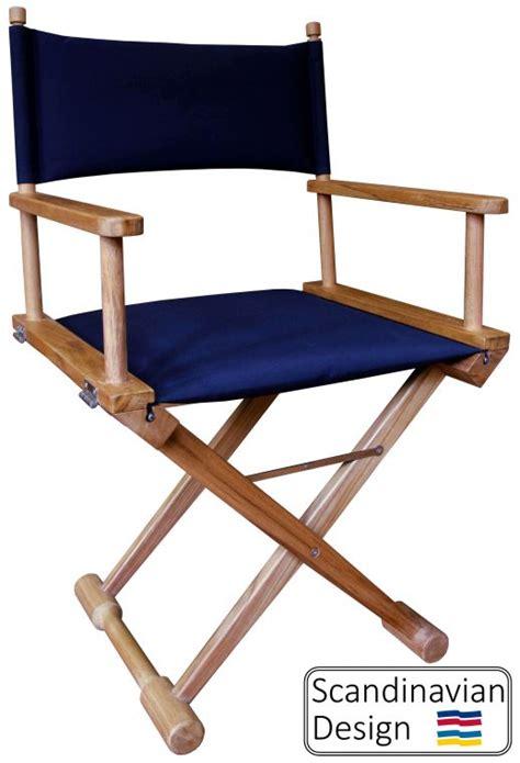 teak folding captains chair w cushions teak deck company