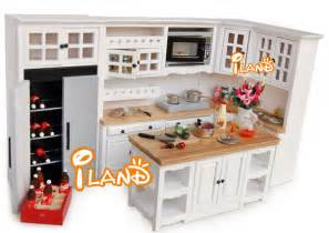 kitchen dollhouse furniture iland white 1 12 dollhouse miniature diy furniture wood oak kitchen set fridge microwave oven