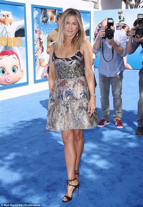 Jennifer Aniston shines in richly detailed dress for LA