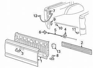 Mazda B2300 Tailgate Latch Rod  Rod    W  Threaded End