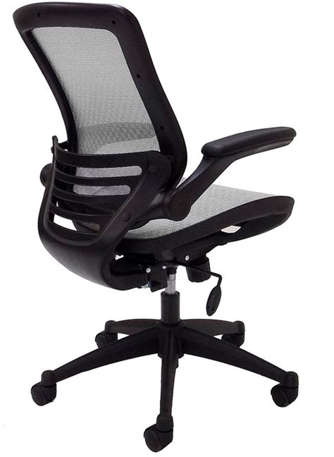 Office Chairs With Flip Up Arms by Elastimesh All Mesh Ergonomic Office Chair W Flip Up Arms