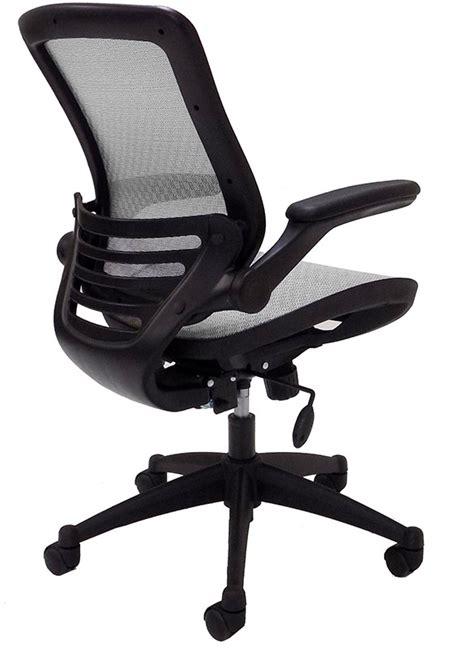 elastimesh all mesh ergonomic office chair w flip up arms