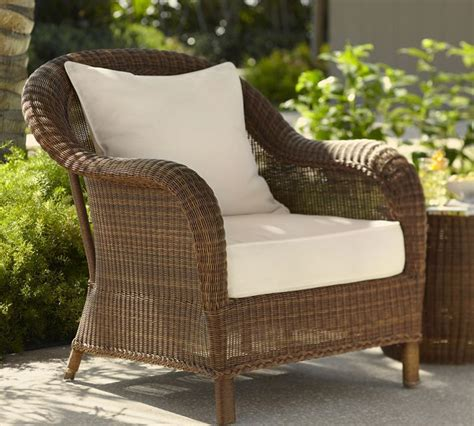 pottery barn honey wicker chair garden outdoor