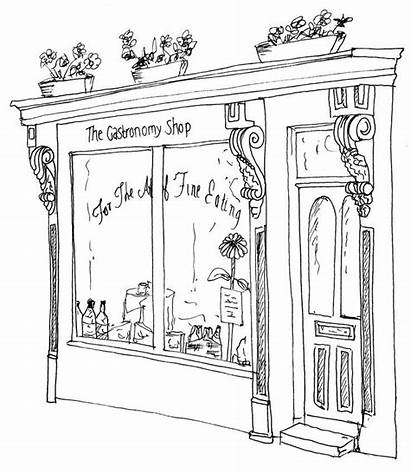 Drawing Drawings Bakery Fronts Sketch Line Window