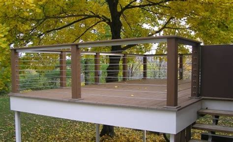 horizontal deck railing ideas cable deck railing cost
