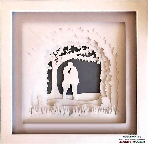 This listing is for digital files to create your own card stock 9×9 inch card shadow box frame. Shadow Box Paper Art Template to Customize   Paper art ...