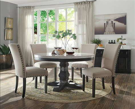 gisela  pieces modern dining room set  white