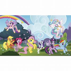 my little pony ponyville chair rail mural xl wall decal ebay With my little pony wall decals