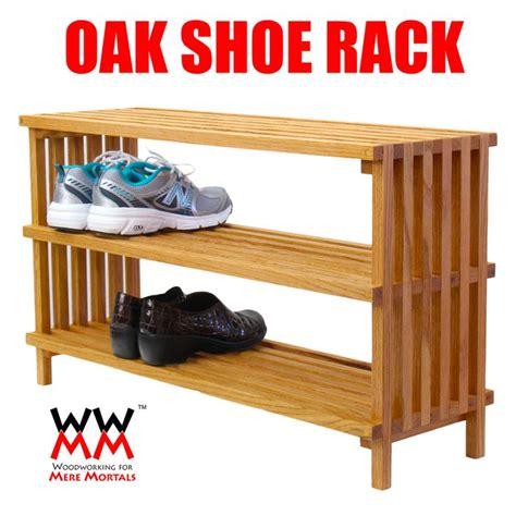 oak shoe rack  plans    video storage