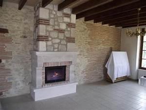Prix Installation Insert Cheminée : cheminee avec insert fonte flamme ~ Nature-et-papiers.com Idées de Décoration